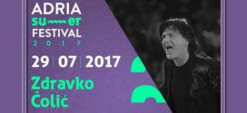 Zdravko 29. jula na Adria Summer festivalu u Medulinu